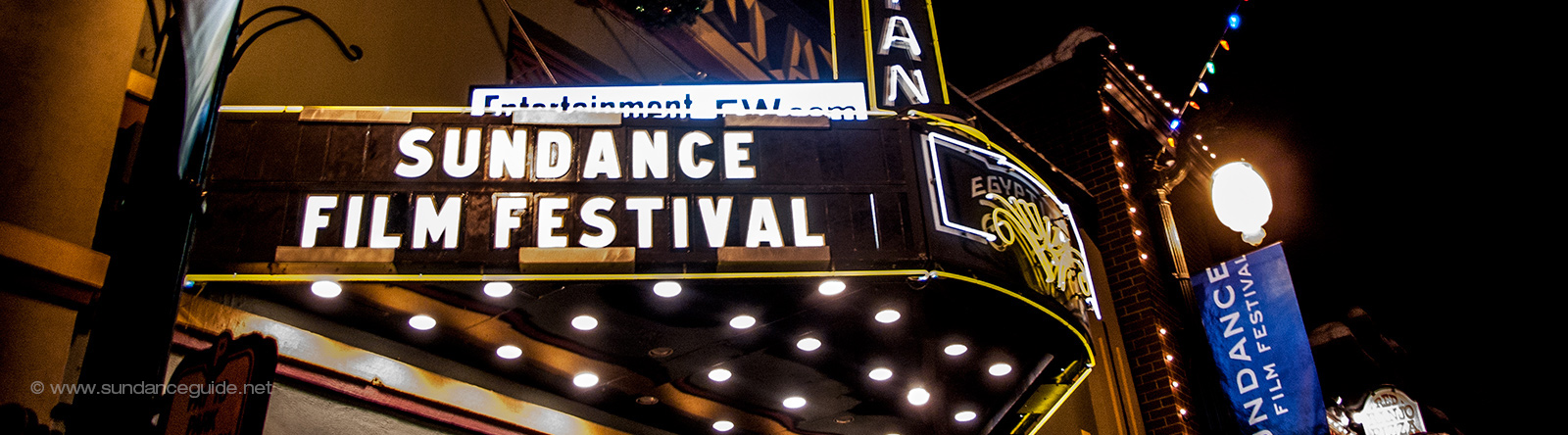 A picture of the Sundance Film Festival marquee at the Egyptian Theatre, Park City, Utah